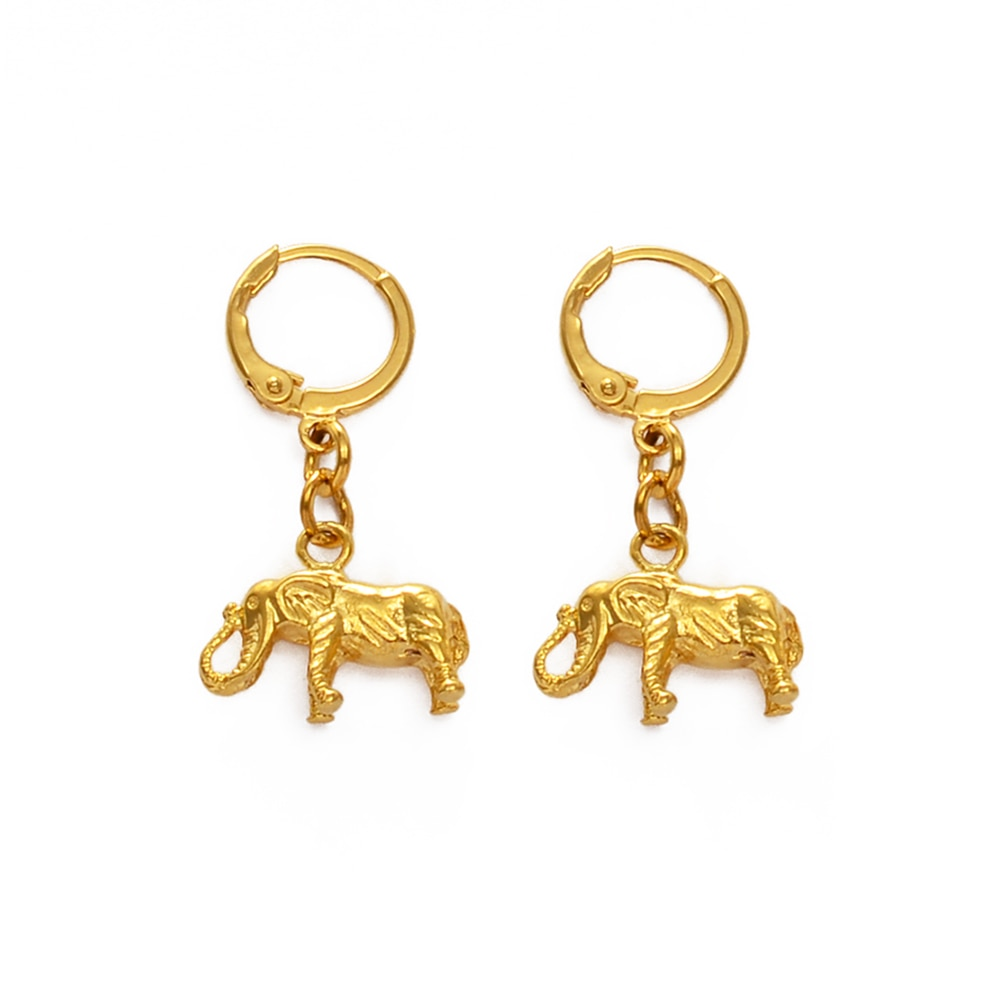 Anniyo boucles doreilles éléphant africain pour femmes filles pour femmes filles or couleur afrique boucles doreilles Animal bijoux maman cadeaux #233306