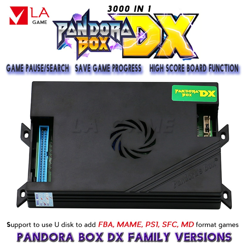 pandora box dx 3000 arcade machine game board family version 3p 4p game 3d mortal kombat direct manufacturers use the 3d pandora box arcade machines