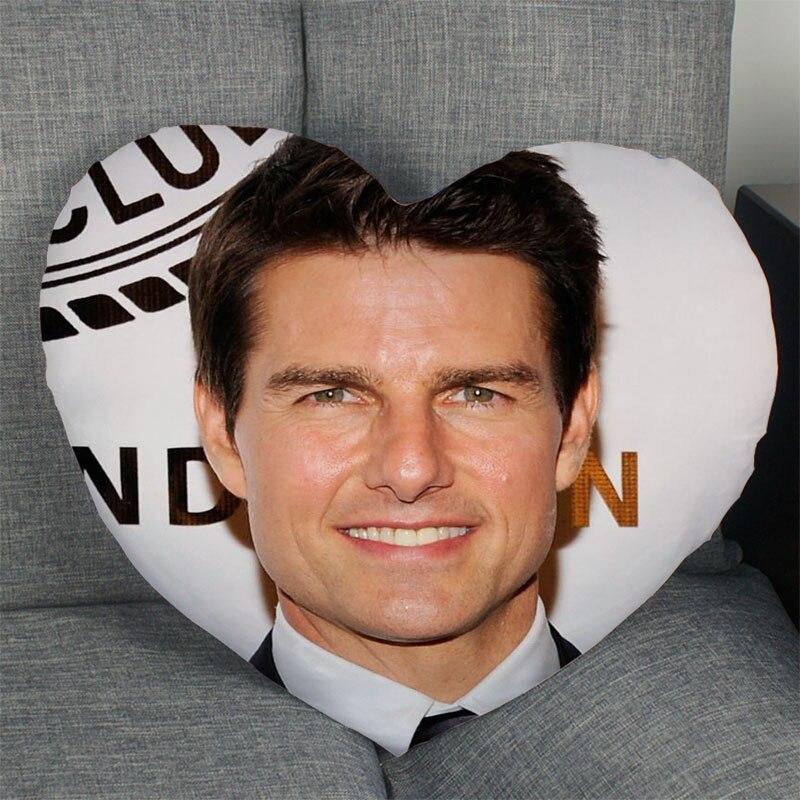 Горячая Распродажа Tom круиз-актер Чехол-подушка в форме сердца