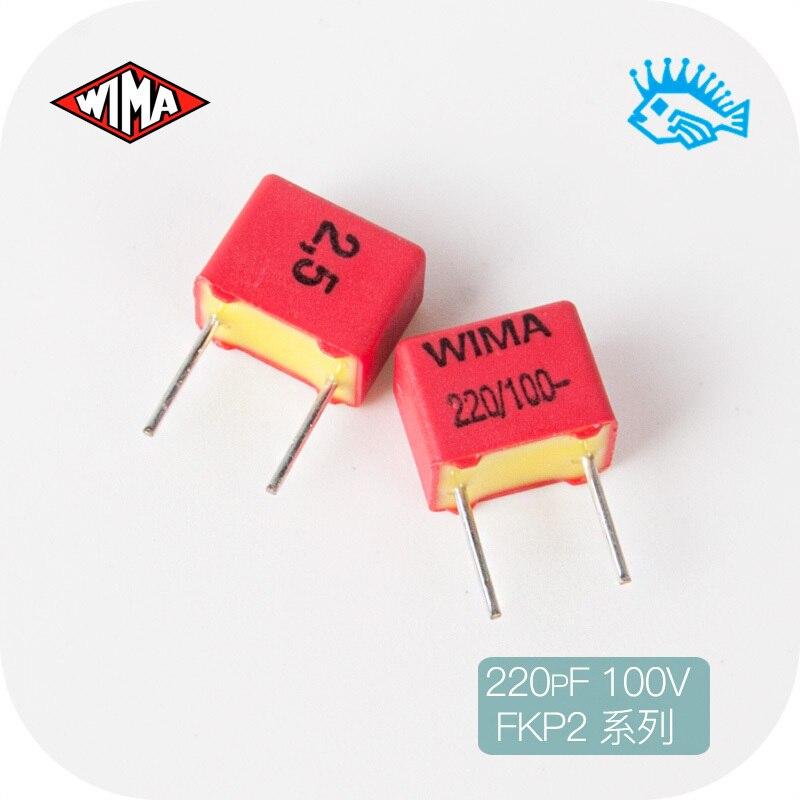 5 шт./50 шт. 220pF 100 в FKP2 WIMA 221/n22/220p Оригинальный Новый немецкий неполярный конденсатор