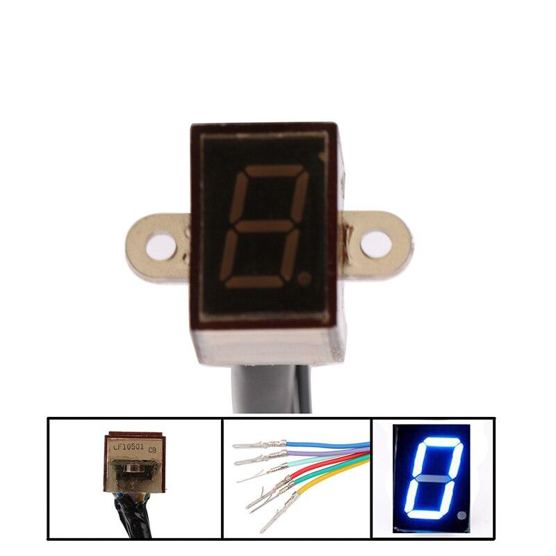 Hot Sell LED Universal Digital Gear Indicator Motorcycle Display Shift Lever Sensor 5 Gears Waterproof LED Display Plug Play