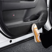 4 Stuks Carbon Fiber Deur Anti Kick Pad Mat Stickers Voor Toyota RAV4 2019 2020 Stickers Accessoires