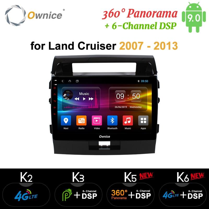 Ownice Android 9.0 Car DVD Navi GPS Player for Toyota land Cruiser 200 2007 2008 2009 2010 2011 2012 2013 k3 k5 k6 DSP 4G SPDIF