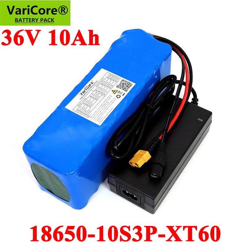 VariCore-بطارية 36V 10ah 18650 للدراجة الكهربائية والسكوتر ، 42V ، موصل XT60 وشاحن 42V 2a