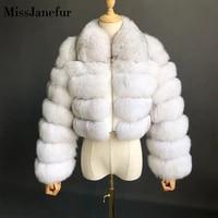 natural color coat short real fur coat women natural fox fur coats winter nine quarter sleeves warm clothing