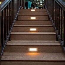 LED Deck Step Light 3W 4W Underground Lamp Recessed Stair Paitio Inground Spot Light Floor Garden Landscape Wall Outdoor Lightin