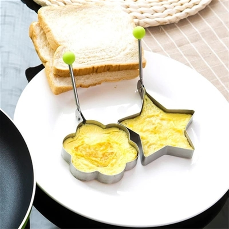 1pc Pentagram Shape Stainless Steel Omelette Pancake Mold Fried Egg Mould Cooking Frying Tools Kitchen Gadgets Accessories