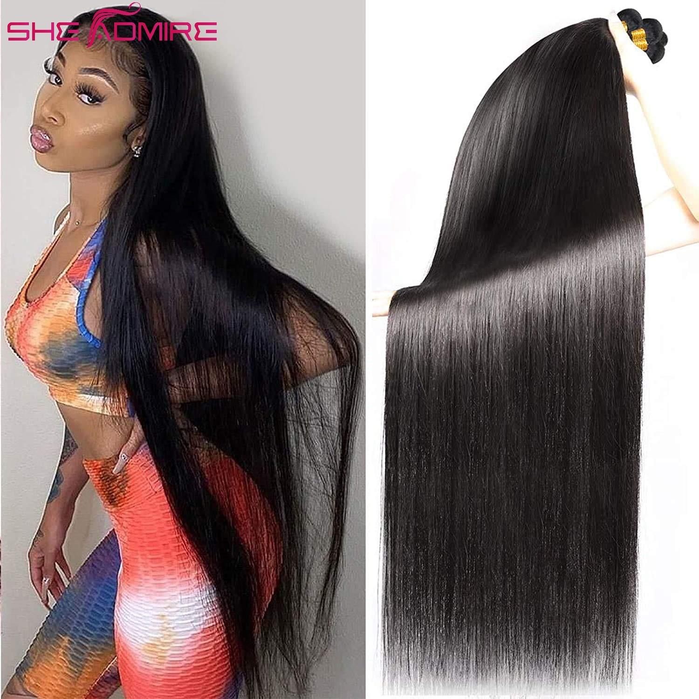 Straight Human Hair Bundles Bone SheAdmire 32 34 36 38 40Inch 1/3/4 Pcs Deals Sale For Black Women B