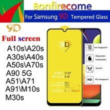 50 Pièces  lot 9D Pleine Incurvée En Verre Trempé Pour Samsung Galaxy A10S A20S A30S A40S A50S A70S A51 A71 A91 M30S Protecteur Décran