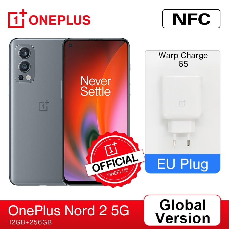 Global Version OnePlus Nord 2 5G Smartphone EU 12GB 256GB 50MP AI Triple Camera OIS Warp Charge 65 90Hz Fluid AMOLED Display