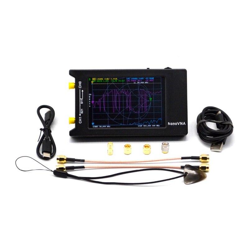NanoVNA-H4 ناقلات شبكة محلل 10KHz-1.5GHz موجات قصيرة MF HF VHF UHF هوائي محلل قياس S المعلمات