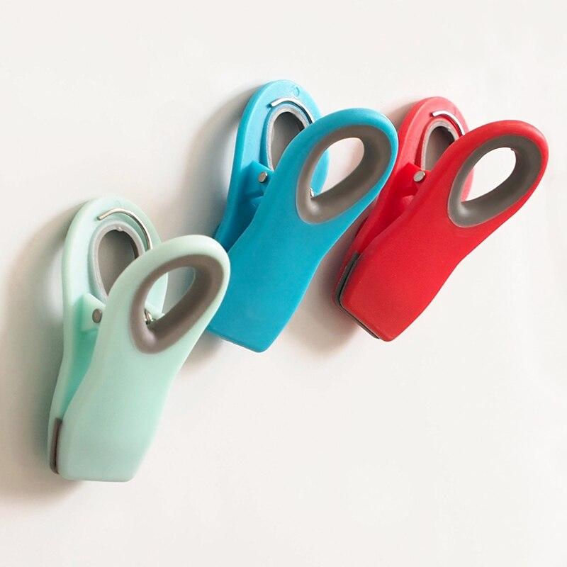 Sellador de abrazadera de mantenimiento fresco para bolsa de Clips magnético multiusos para nevera de cocina Clips magnéticos sellado portátil