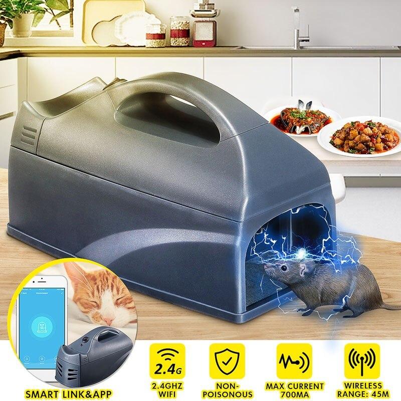 NEO Coolcam واي فاي الذكية الإلكترونية الفئران القوارض مصيدة فئران القاتل الإلكترونية الإنسانية لا السم استخدام صدمة طارد فوري