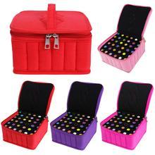 36grid Velvet Women Essential Oil Storage Bag Carrying Travel Bottle Organizer for 5 15 30ml Holder Zipper Handbag