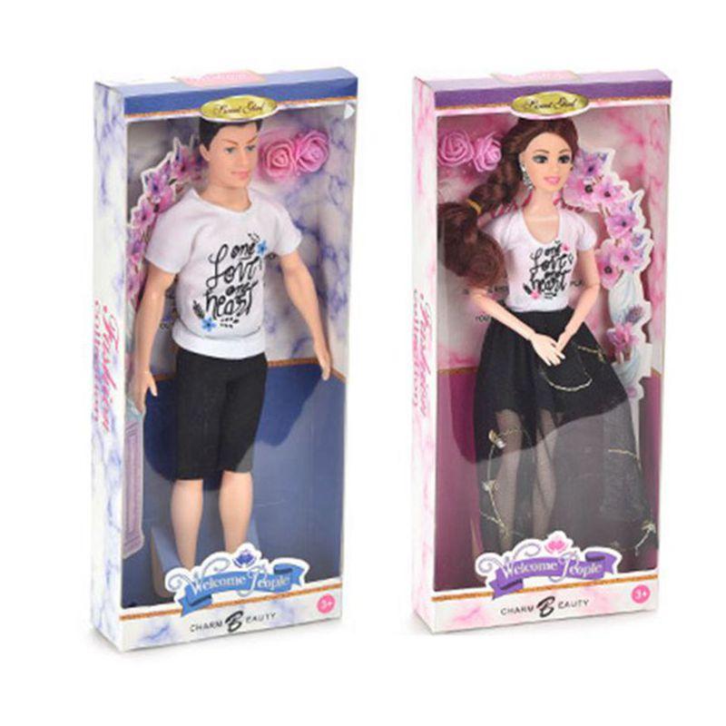 Muñecos de juguete para niñas, 1 muñeca femenina + 1 muñeco KEN,...