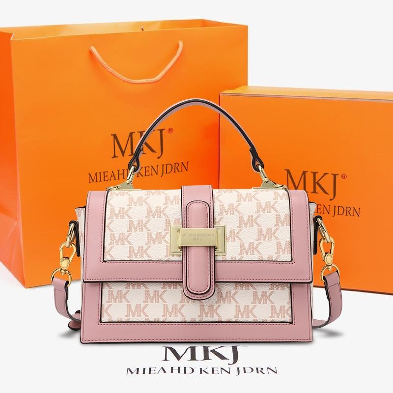 MKJ  New Genuine Leather Flap Bags For Women 2021 Summer Lady Shoulder Handbag Female Beautiful Fash