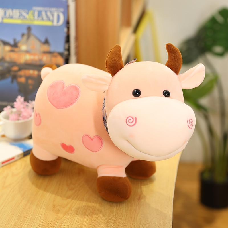 Hot Nice 25cm/30/40cm New Plush Cow Toy Cute Cattle Plush Stuffed Animals Cattle Soft Doll Kids Toys Birthday Gift for Children  - buy with discount