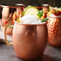 wine cup moscow mule mug 304 stainless steel food safe cocktail cup handmade hammered copper plated cups 550ml drinking mug