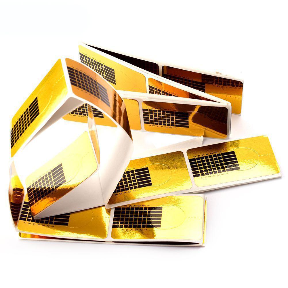 XY Fancy 50 unids/bolsa, suministros de manicura, formas de uña cuadrada, pegador de uñas, herramienta de alargamiento de uñas