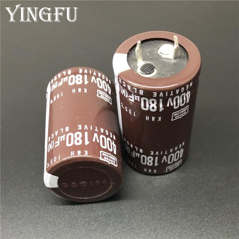 3 uds 180uF 400V NIPPON NCC KMH alta fiabilidad 25x40mm 400V180uF condensador electrolítico de aluminio