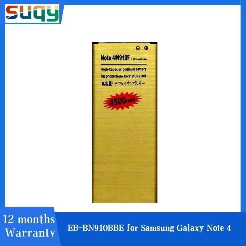 Suqy-batería EB-BN910BBE para Samsung Note 4, para Galaxy Note 4, N910F, N910H,...