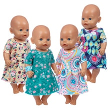 2020 New dress Doll clothes Fit For 43cm/17inch baby Doll Reborn Babies Clothes And 17inch Doll Acce