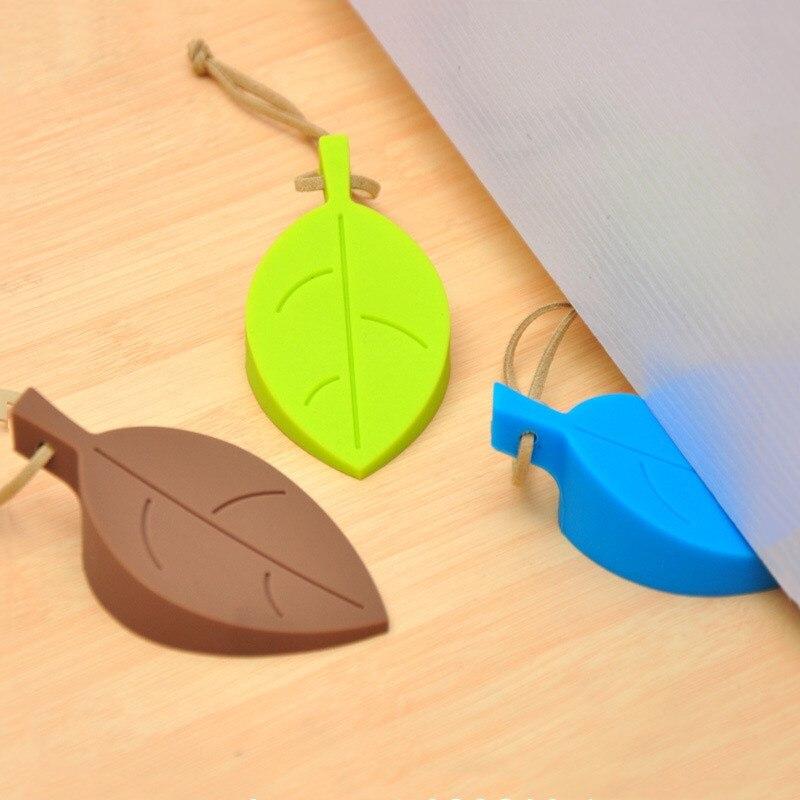 Baby Safety Protector Cute Cartoon Leaf Silicone Figure Door Stopper Wedge Door Catcher Block Guard Home Office Protectors Decor