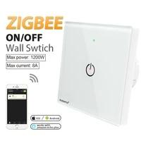 zigbee wall switch ac100 240v bulb dimmer zigbee led remote night light control work with zigbee app gateway samrt phone control