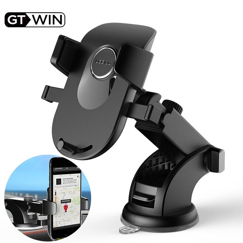 Soporte para teléfono GTWIN con ventosa para coche, soporte para teléfono móvil, soporte para coche sin soporte magnético GPS para iPhone 11 Pro Xiaomi Samsung