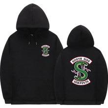 2020 New South Side Serpents Hoodie Sweatshirt Hip hop Streetwear Autumn Spring Hoodies Men fashion Riverdale hoodie size S-3XL