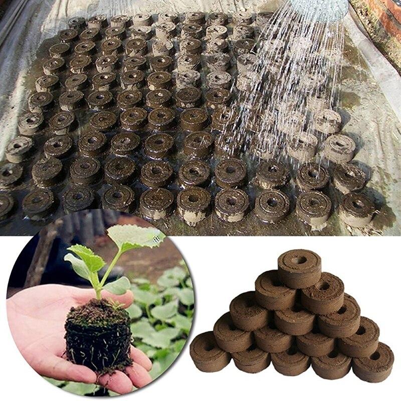 20/50/100pcs-pack 25mm/30mm Jiffy Peat Pellets Seedling Soil Block Maker Starting Plugs Seeds Starte