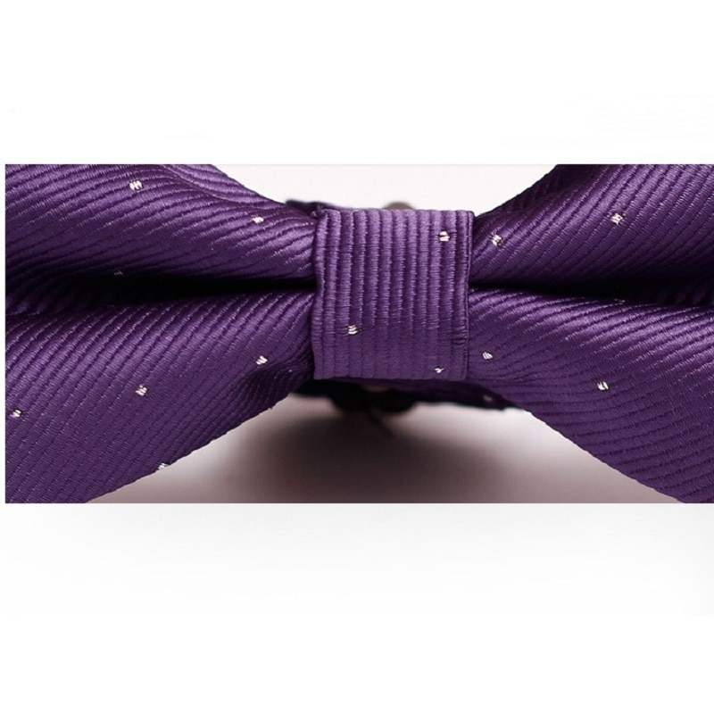 High Quality Bowtie For Men Fashion Purple Bow Tie Great For Party Formal Commercial Suit Wedding Ceremony Ties Dot