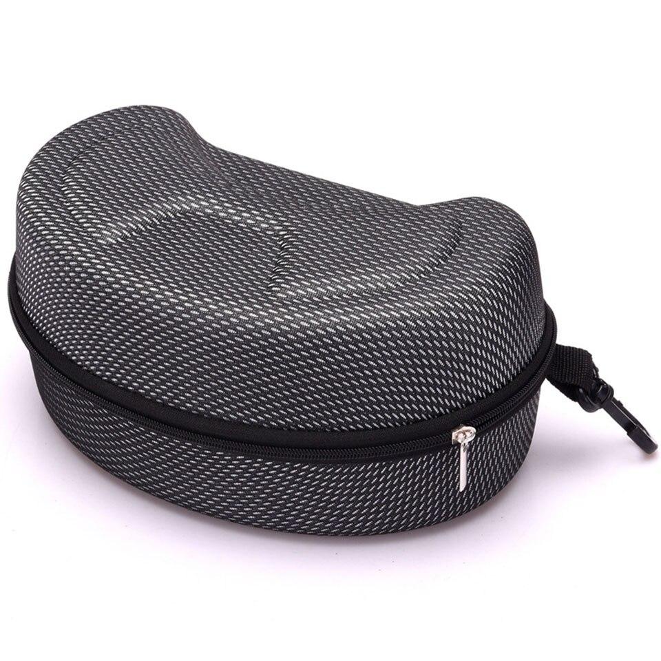 Nuevo estuche de gafas EVA estuche de cremallera modelo explosión moda negro gancho gafas de sol caso de compresión gafas de sol caja para 140