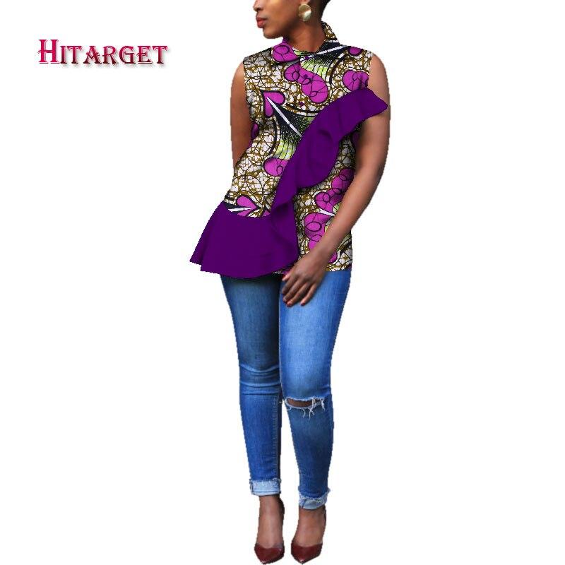 Новая африканская женская одежда Дашики, Модная элегантная рубашка с отложным воротником, африканская Женская одежда из Анкары WY383