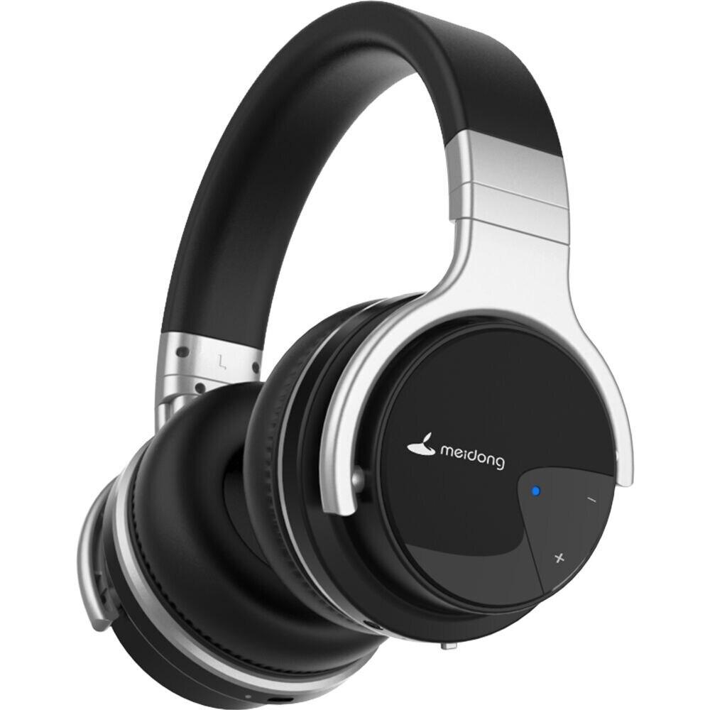 Meidong E7B [ترقية] ANC نشط إلغاء الضوضاء سماعات سماعة لاسلكية تعمل بالبلوتوث سماعات أذن مع ميكروفون للهاتف
