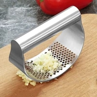 multifunction manual garlic press curved garlic grinding cutter stainless steel garlic presses kitchen gadgets