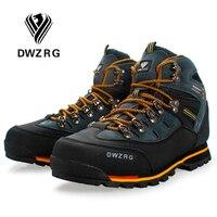 DWZRG Мужская обувь для походов, водонепроницаемая кожаная обувь, альпинистская и Рыболовная обувь, новая популярная Уличная обувь, мужские в...