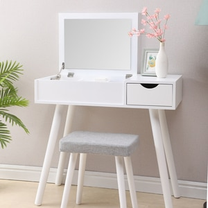 Makeup Table Furniture Vanity Table with Drawers Mirrored Dresser Furniture Bedroom Modern Wooden Dressers Bedroom Furniture