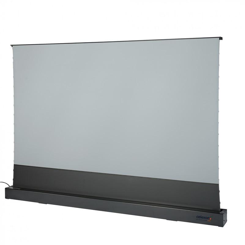 Vividstorm HDTV تنسيق الميكانيكيه الكهربائية علر الطابق ارتفاع الإسقاط شاشة ل فائقة قصيرة رمي العارض ، أوست مكافحة ضوء