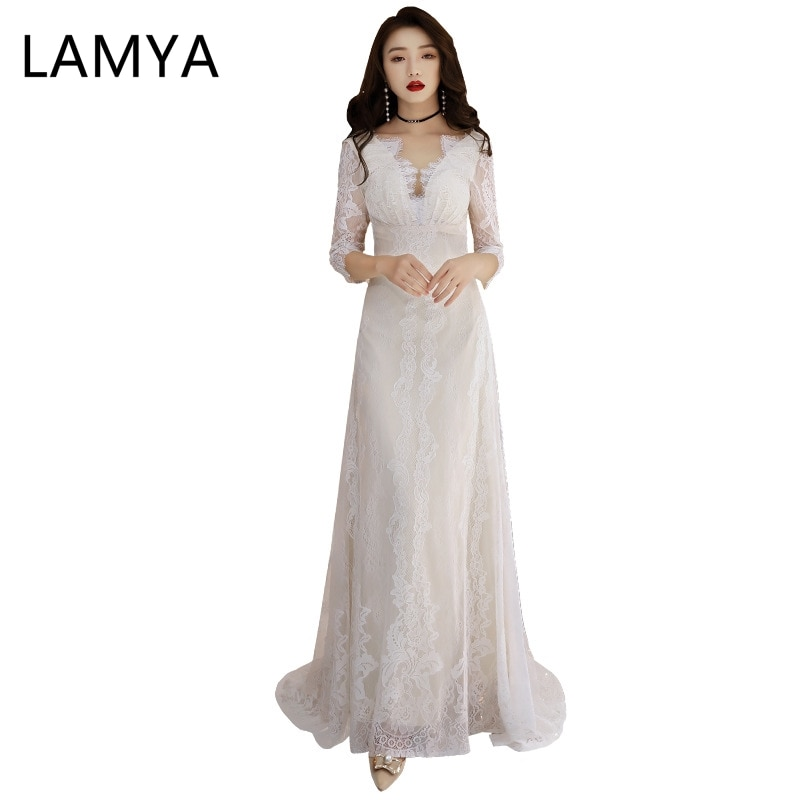 LAMYA-Vestidos De Novia bohemios con tirantes finos, vestido De noche para Novia, Vintage, romántico, Rojo