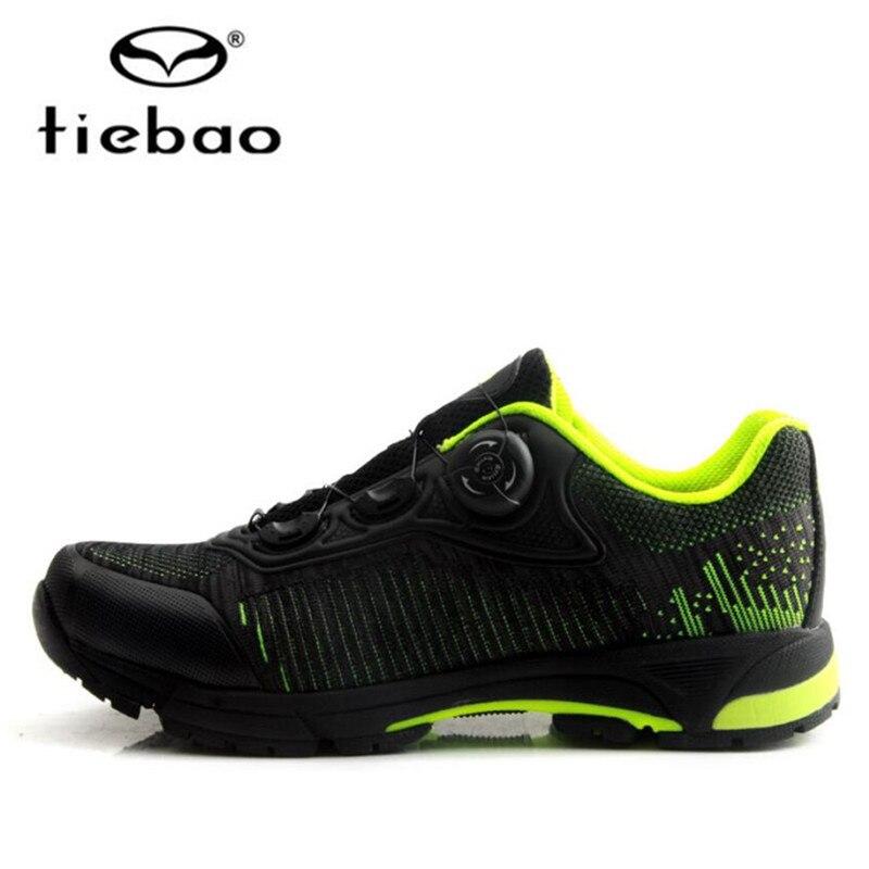 Tiebao-حذاء ركوب الدراجات ، بقفل ذاتي ، للرجال, أحذية رياضية MTB ، شبكية ، جيدة التهوية ، أحذية الأنشطة الخارجية ، أحذية الترفيه