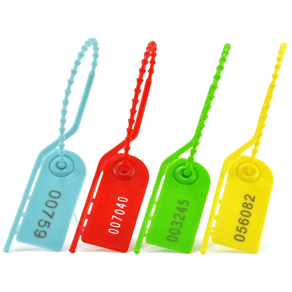 1000 pull tite selos de seguranca inviolavel etiquetas numeradas comprimento 210mm