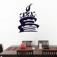 Autocollant Mural gateau doux cuisine cafe interieur stickers muraux Art Mural  decor de maison  decoration de pepiniere pour enfants  affiche de papier peint