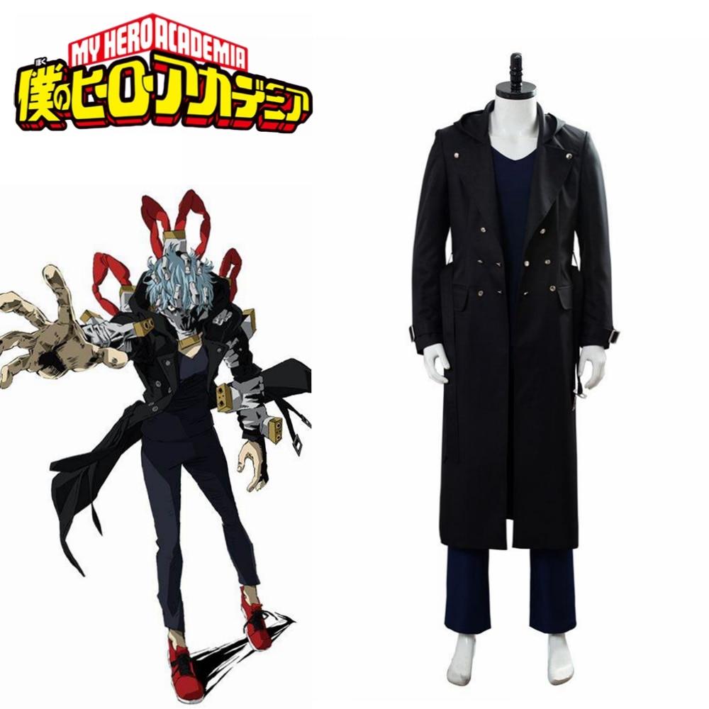Boku no/My Hero Academia Season 4 Villain Shigaraki Tomura Cosplay Costume Outfit Adult Men Male Black Halloween suit