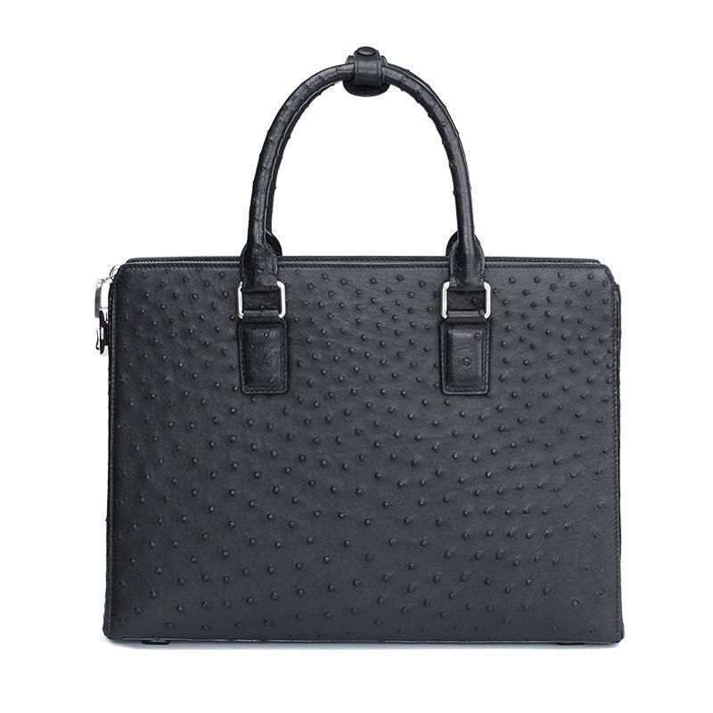 Men's Luxury Ostrich Skin Messenger Bag Men For Handbag High Grade Business Briefcase With Code Lock Laptop Computer Office Bags