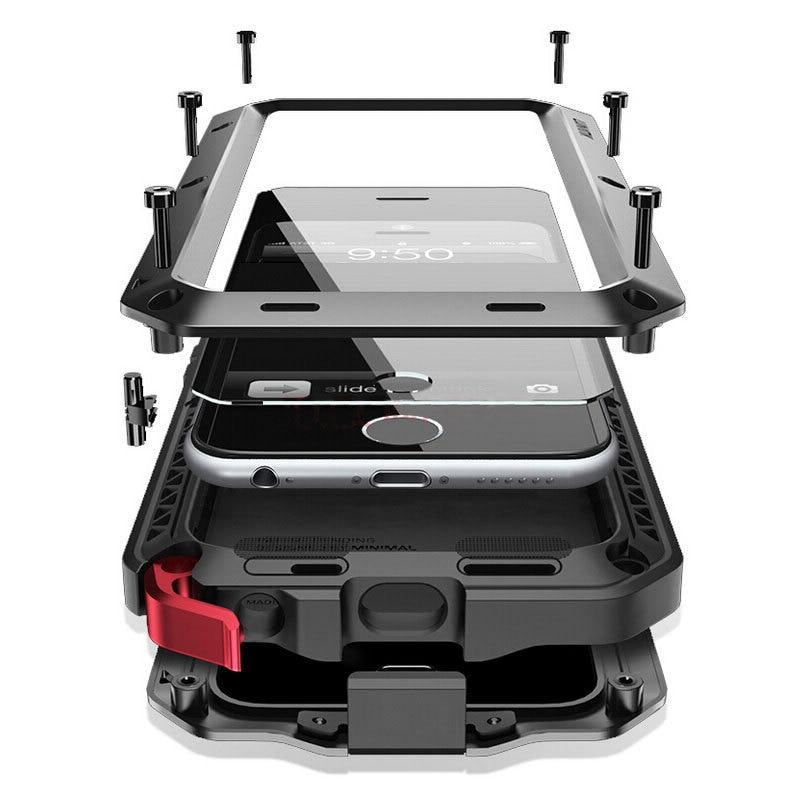Heavy Duty Protection Doom Armor Metal Aluminum Case for Samsung Galaxy S20 S10 S9 S8 Plus S10e S7 e