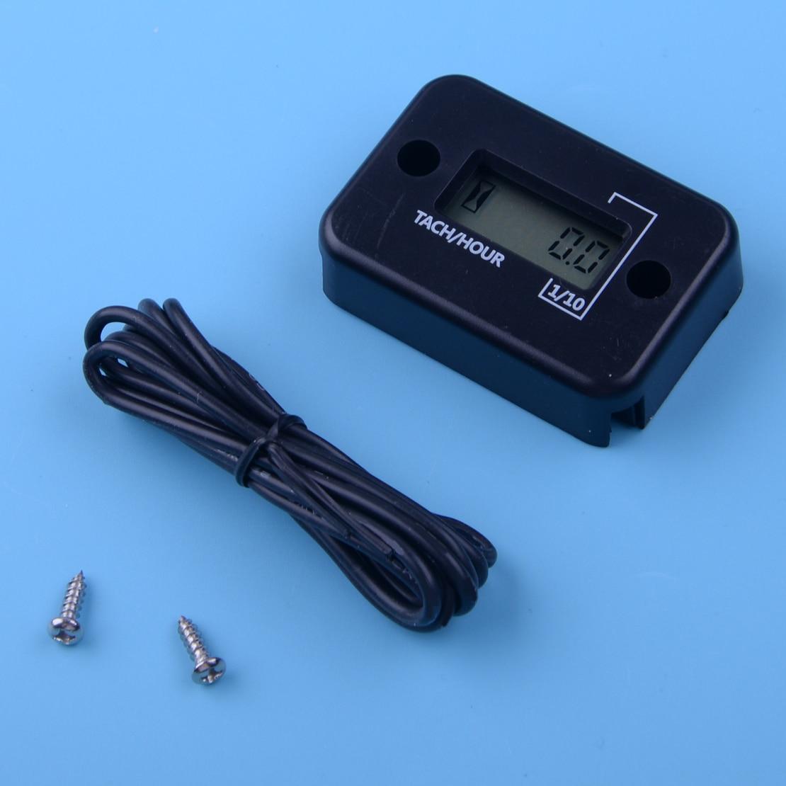 Tacómetro Digital a prueba de agua contador de horas medidor LCD para motor de Gas de 4 tiempos