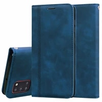 s10 lite fashion pu leather flip case for samsung galaxy a91 mobile phone protection bag magnetic suction cover