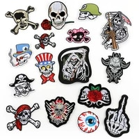 punk style pirate skull embroidery badge patch ironing clothing sewing supplies decoration patch clothing backpack decoration