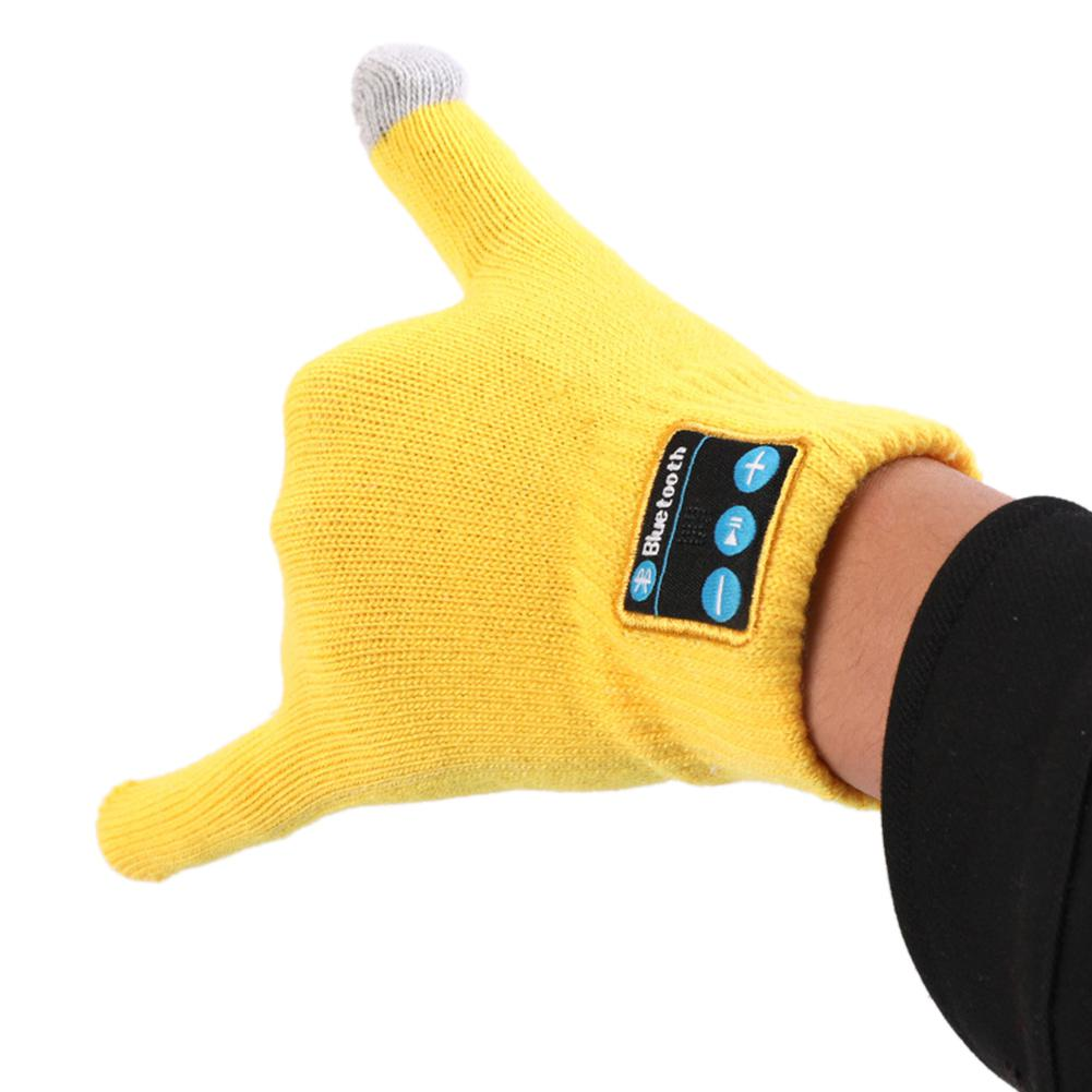 Bike Bicycle Bluetooth Gloves with Built In Mic Speaker Winter Smart Sports Gloves Warm Touch-screen